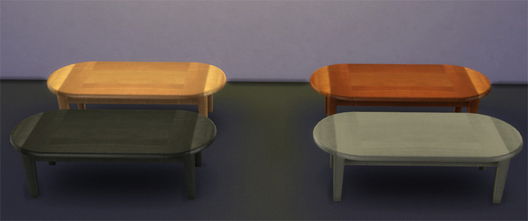 Sims 4 CC - Coffee Tables from TheSims2