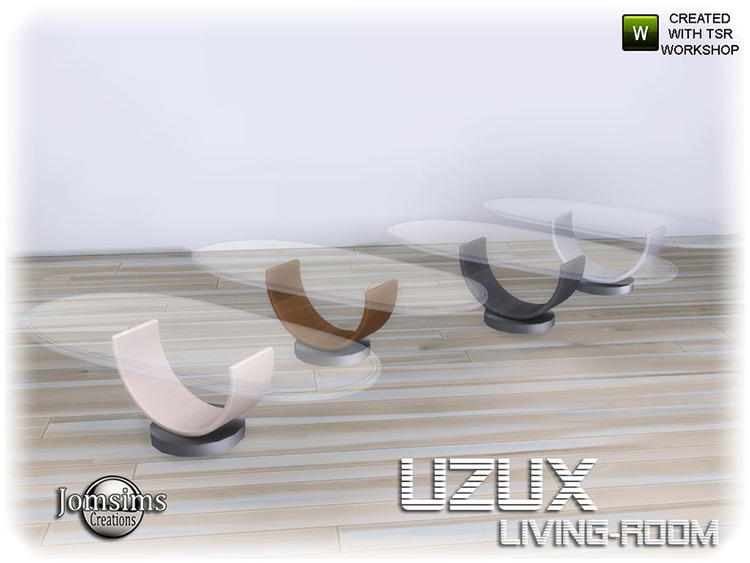 Glass Uzux Coffee tables Sims4 CC