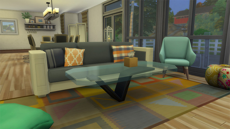 Custom glass style coffee table TS4