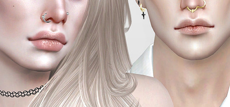 Best Sims 4 Nose & Septum Ring CC Piercings