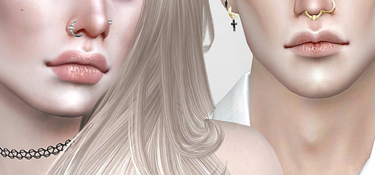 Pralinesims DIY nose rings CC - TS4 preview