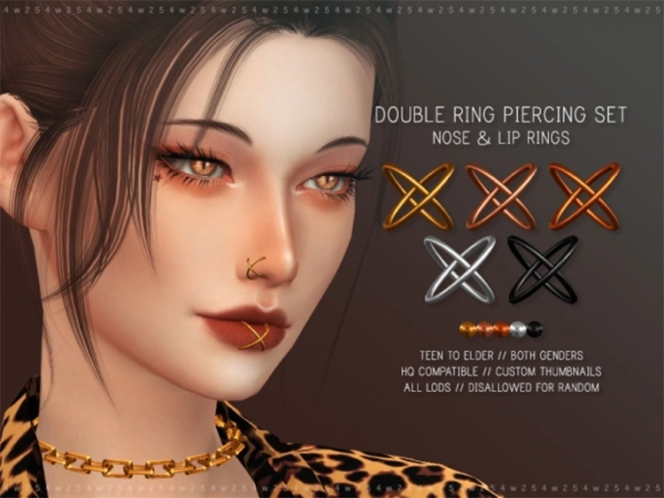 Double ring nose piercing CC