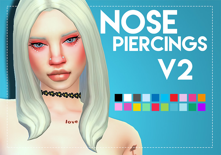 Custom nose rings CC TS4