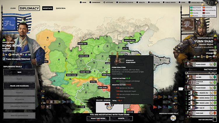 Better Diplomacy Total War: Three Kingdoms mod