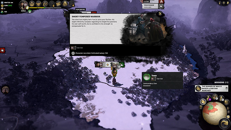 Heroes Join Your Faction Total War: Three Kingdoms mod