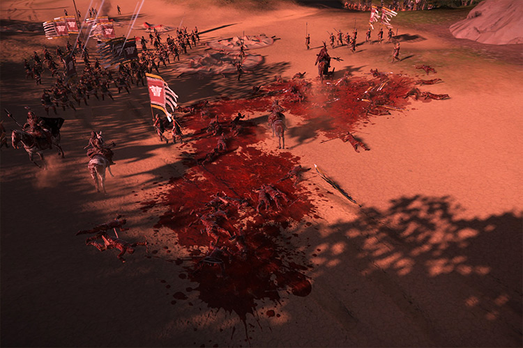 Realistic Battle Blood mod for Total War: Three Kingdoms