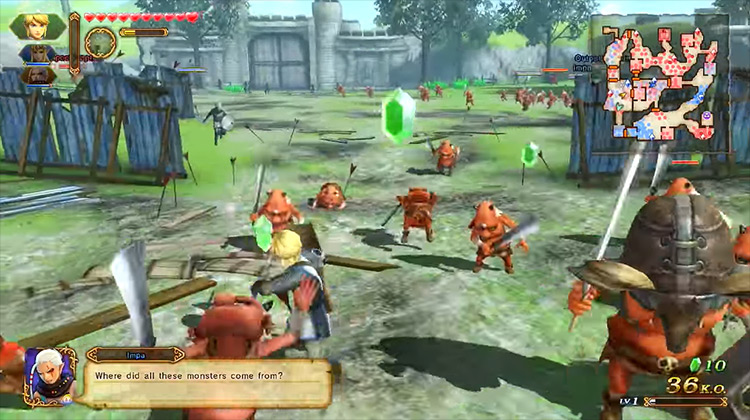 Hyrule Warriors: Definitive Edition gameplay