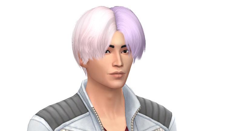 Pink half/half ombre kpop-style hairdo - TS4