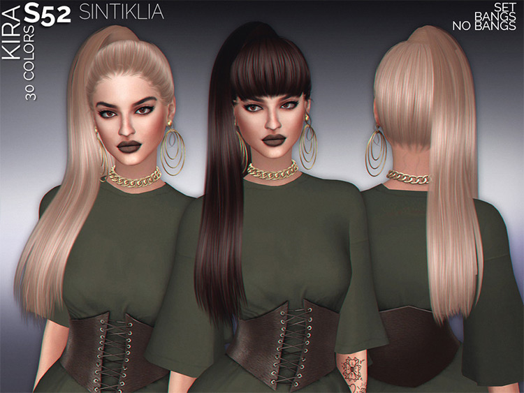 sintiklia high ponytail sims4 CC