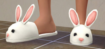 Cute bunny slippers for The Sims 4