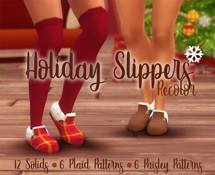 Holiday Slippers Recolor for The Sims 4