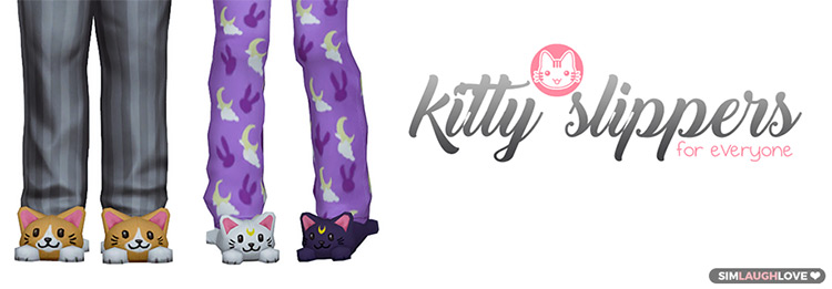 Kitty Slippers for The Sims 4