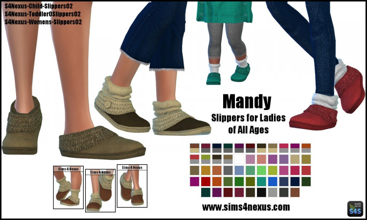 Mandy Slippers for The Sims 4