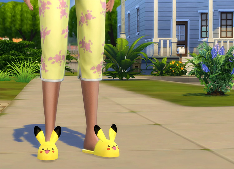 Pikachu Slippers for The Sims 4