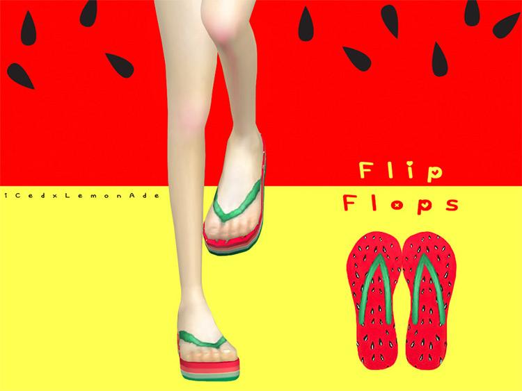 Watermelon High Flip Flops Slippers CC