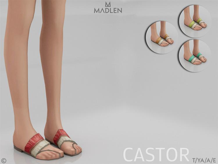 Madlen Castor Slippers - Sims 4 CC