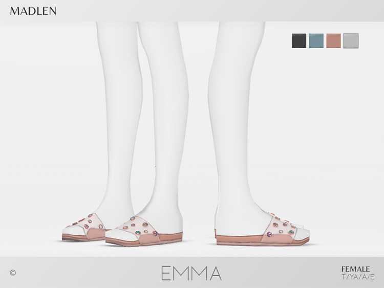 Madlen Emma Shoes for Sims 4 CC