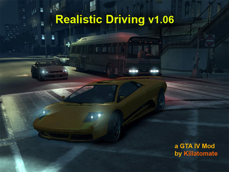 Realistic Driving & Flying Mod for GTA4
