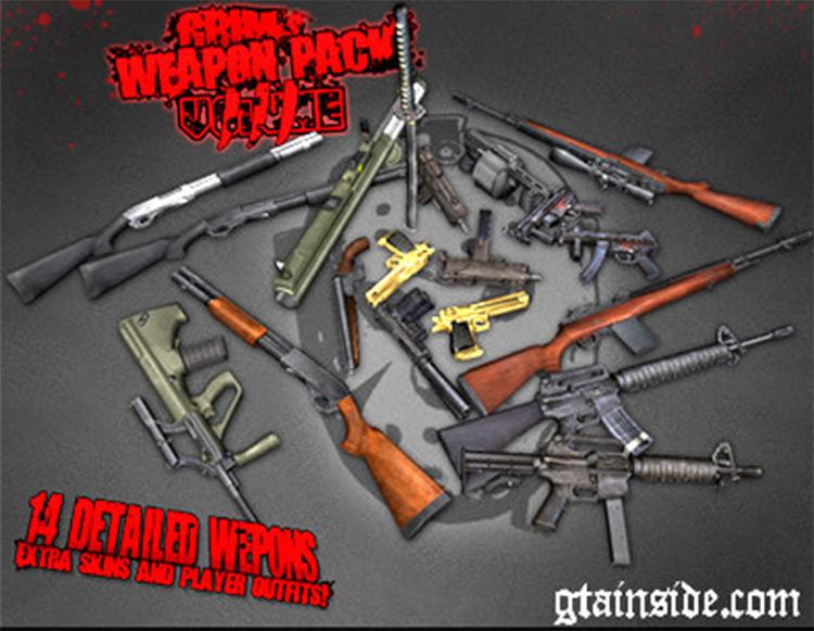 Grim's Weapon Pack GTA4 Mod