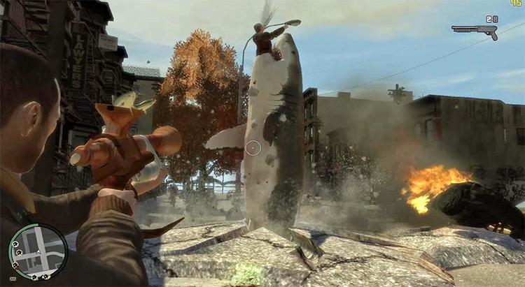 Shark-o-Matic Gun in GTA4
