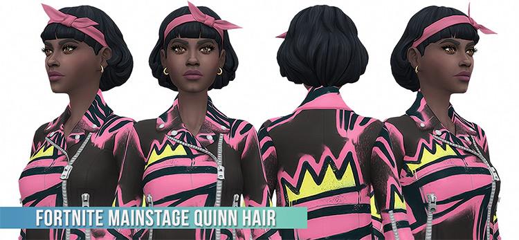 Quinn hairdo CC for Sims 4