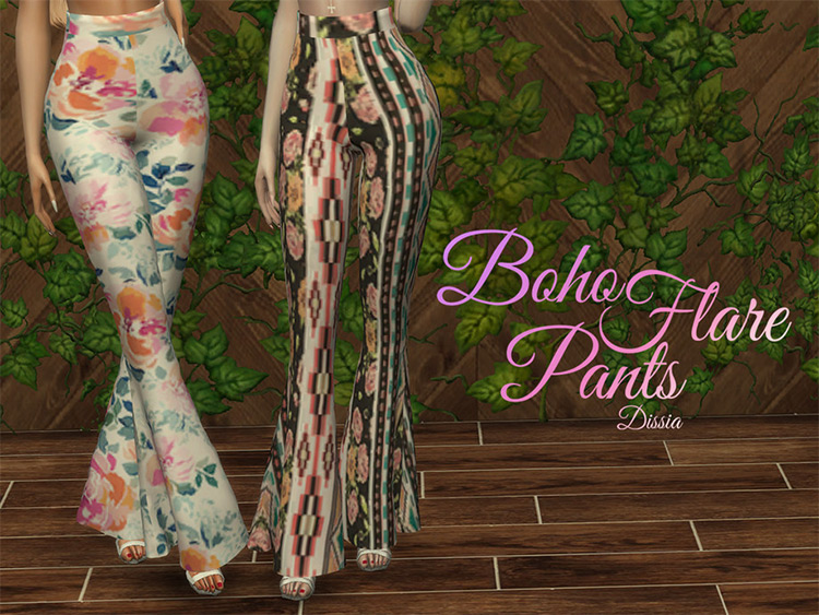 Boho Flare Pants in The Sims 4
