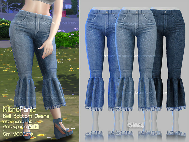 Bell Bottom Jeans for The Sims 4