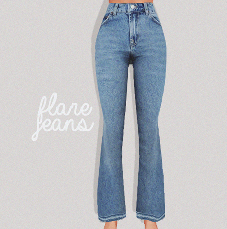 Styled Flare Jeans CC for TS4