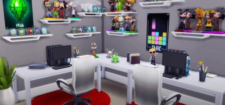 Sims 4 Gaming Room Designed Screenshot