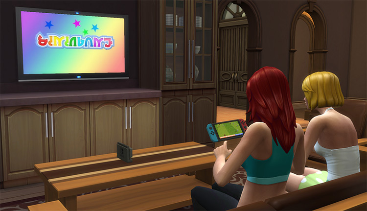 Nintendo Switch CC Set for The Sims 4