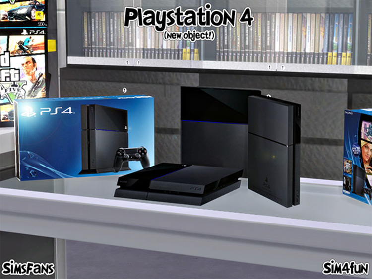 Sony PS4 Console CC for The Sims 4