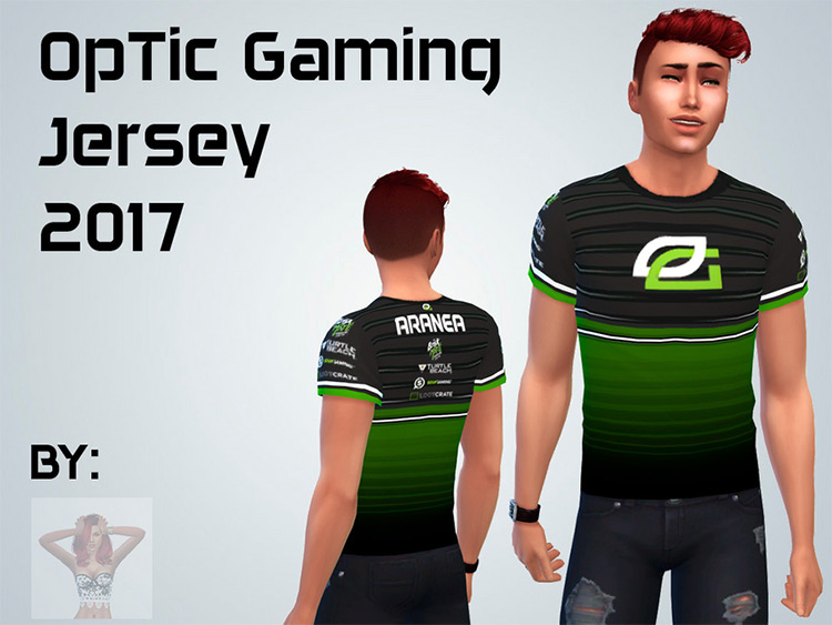 Optic Pro Gaming Jersey decor - Sims 4