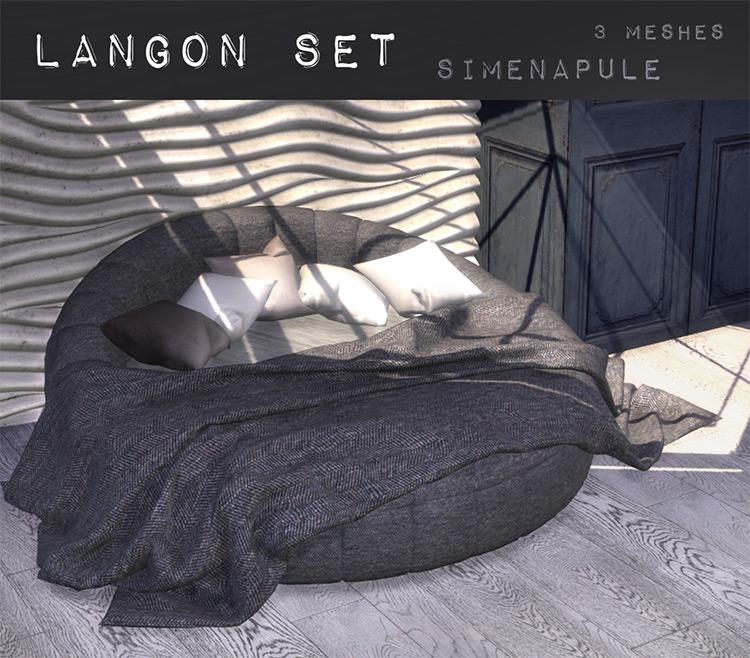 Langon Set Bed TS4 CC