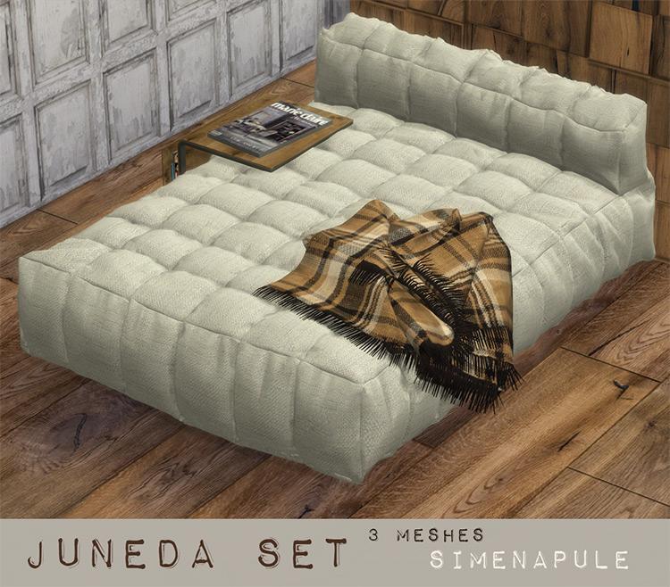 Juneda Set - Blankets & Comforters TS4 CC