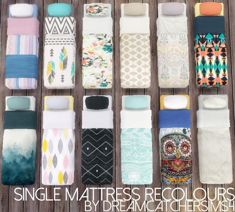 Single Mattress Recolors CC