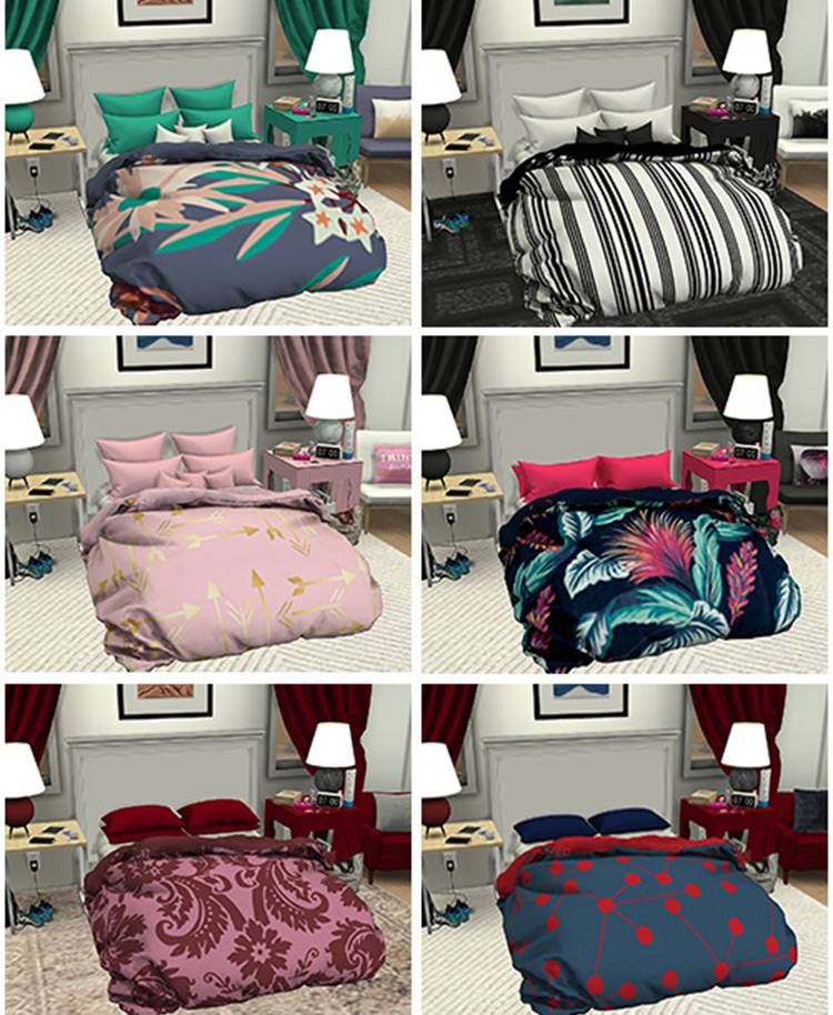 The Comfy Collection - Sims 4 blankets CC