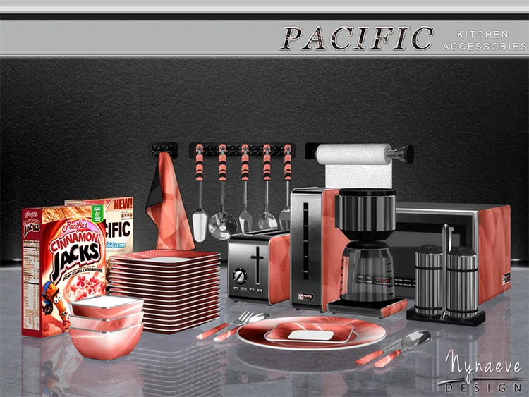 Pacific Heights Kitchen Accessories - Sims 4 CC