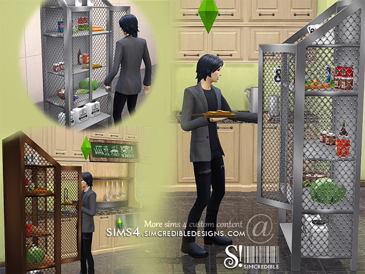 Industrial Kitchen Pantry CC - Sims 4 Preview