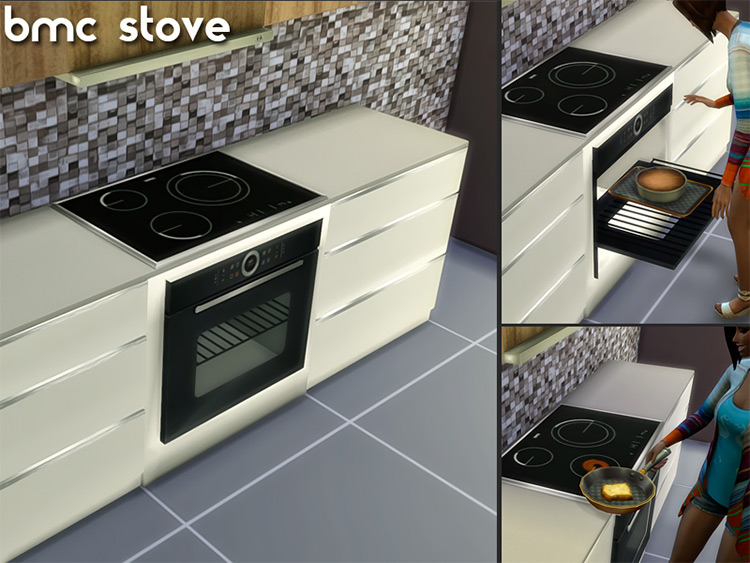 BMC Stove CC for The Sims 4