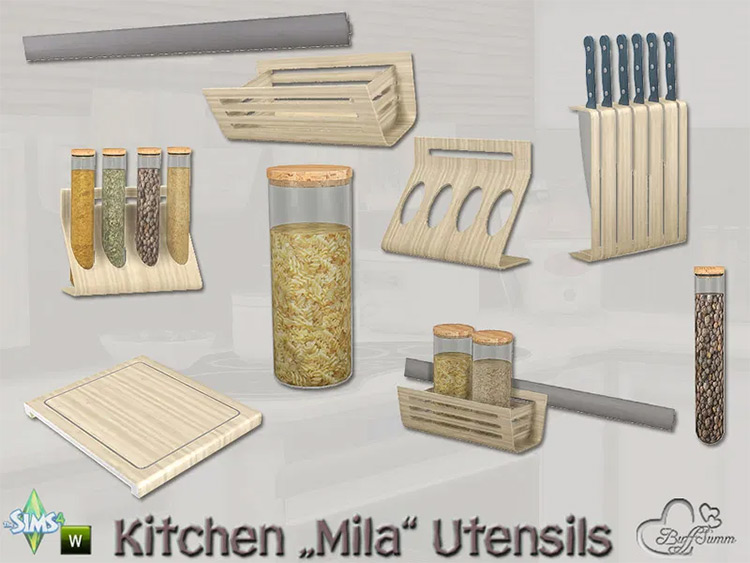 Mila Utensils CC for The Sims 4