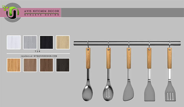 Avis Kitchen Utensils - Sims 4 CC