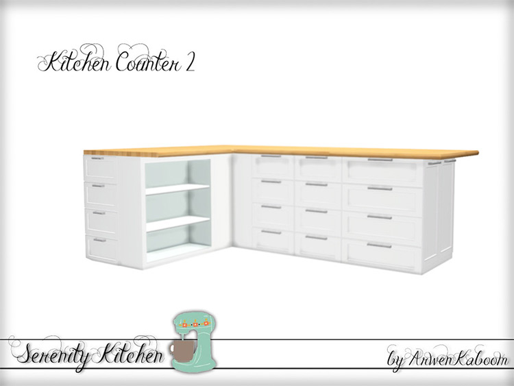 Serenity Kitchen Counters - Sims 4 Mod