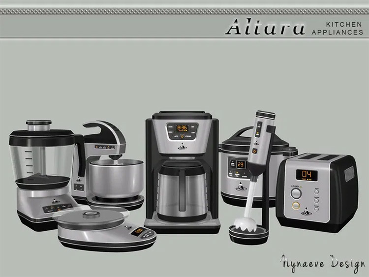 Altara Kitchen Appliances Set - Sims 4 Modpack