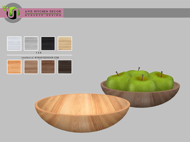 Avis Fruit Bowl CC for Sims 4