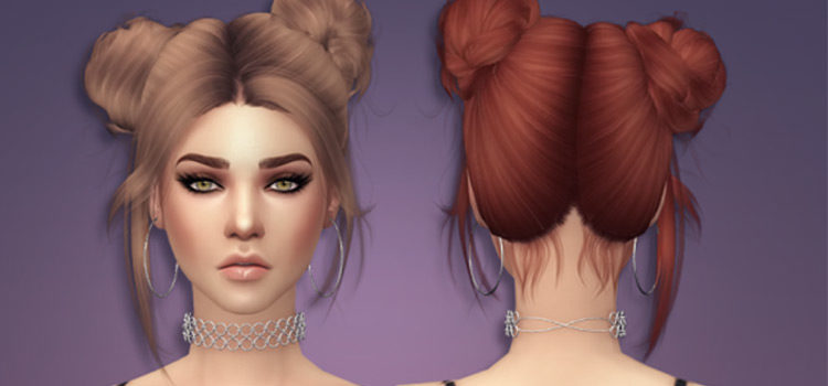 Sims 4 CC: Cutest Double Bun Hairdos To Download