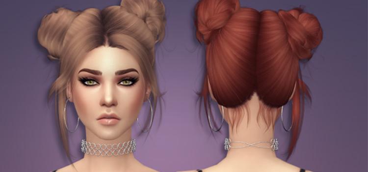 NewseaGaze Sims 4 Doublebuns Harido