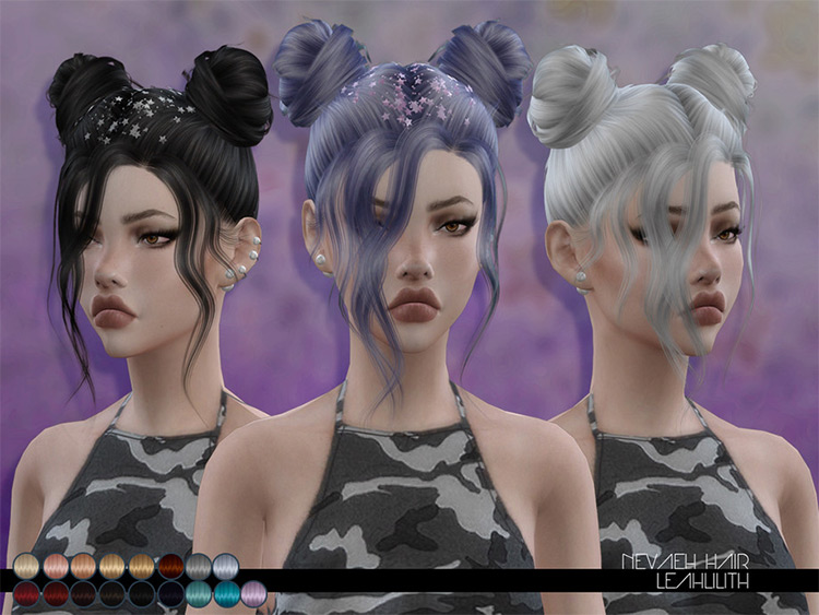 Nevaeh Hair CC for The Sims 4