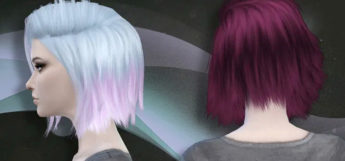 Short hair colors with two-tone styles for girls - TS4