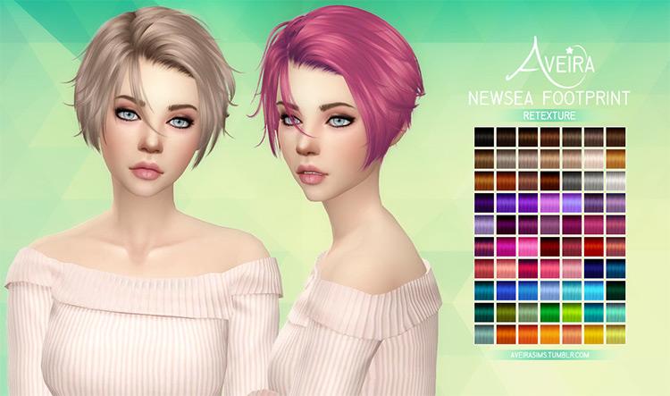Short side-swept CC girls hair Sims4