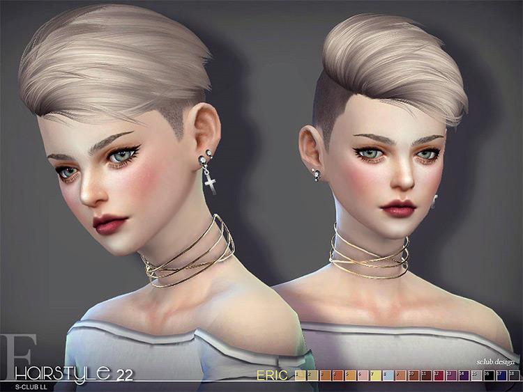 S-Hair Short Side-Shaved for girls